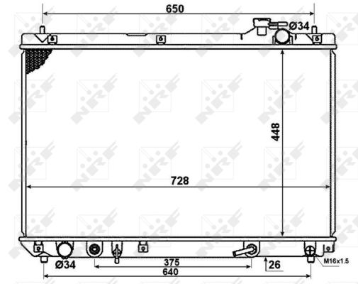 Radiateur de refroidissement NRF 58378 (X1)