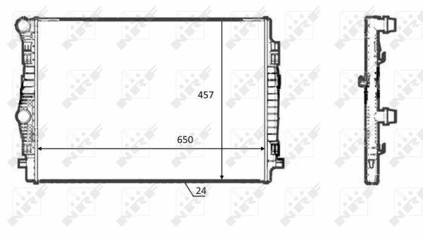 Radiateur de refroidissement NRF 58392 (X1)