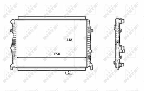Radiateur de refroidissement NRF 58398 (X1)