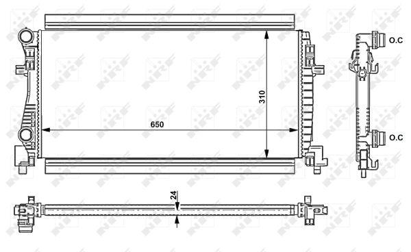 Radiateur de refroidissement NRF 58438 (X1)