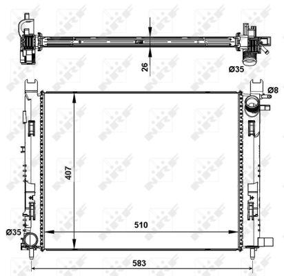 Radiateur de refroidissement NRF 58443 (X1)