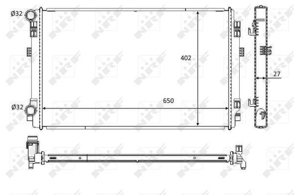 Radiateur de refroidissement NRF 58453 (X1)