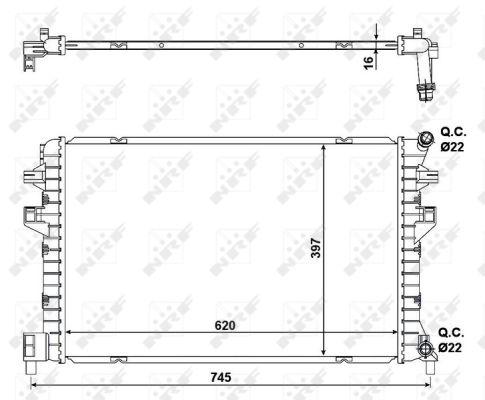 Radiateur de refroidissement NRF 58471 (X1)