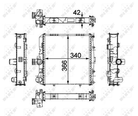 Radiateur de refroidissement NRF 58486 (X1)