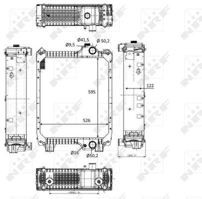 Radiateur de refroidissement NRF 58571 (X1)