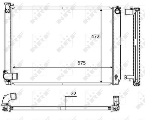 Radiateur de refroidissement NRF 58604 (X1)