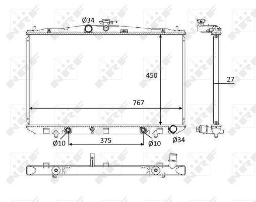 Radiateur de refroidissement NRF 58611 (X1)