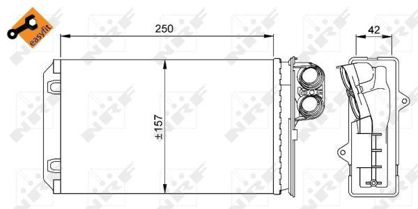 Radiateur de chauffage NRF 58629 (X1)