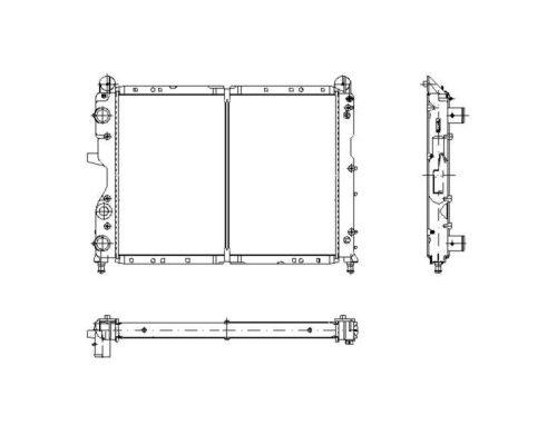 Radiateur de refroidissement NRF 58791 (X1)