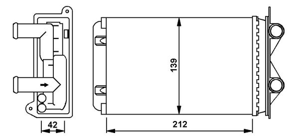 Radiateur de chauffage NRF 58935 (X1)