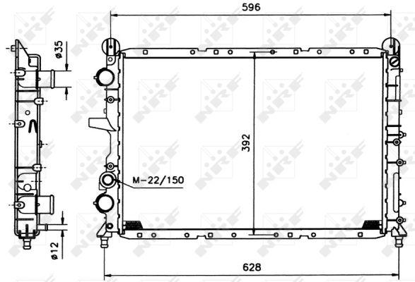 Radiateur de refroidissement NRF 58995 (X1)