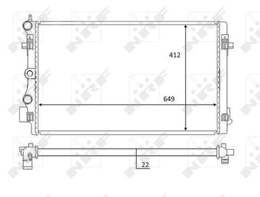 Radiateur de refroidissement NRF 59056 (X1)