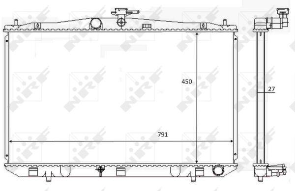 Radiateur de refroidissement NRF 59081 (X1)