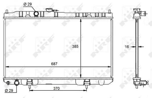 Radiateur de refroidissement NRF 59099 (X1)