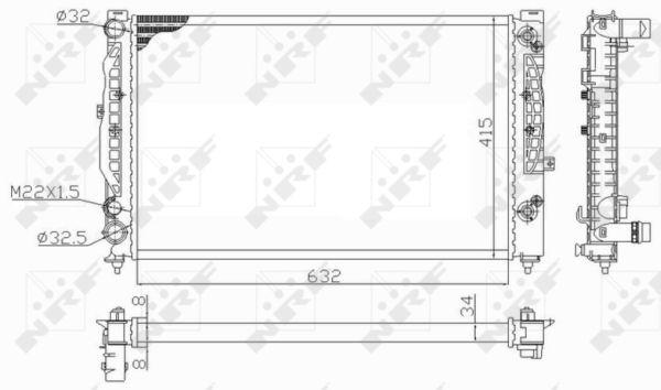 Radiateur de refroidissement NRF 59101 (X1)