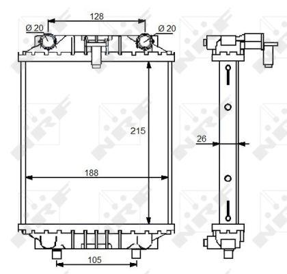 Radiateur de refroidissement NRF 59125 (X1)