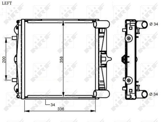 Radiateur de refroidissement NRF 59130 (X1)