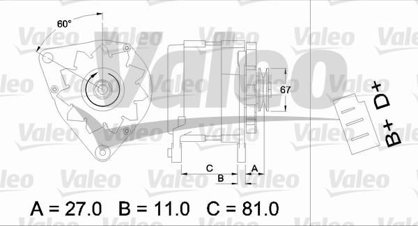 Alternateur VALEO 436144 (X1)