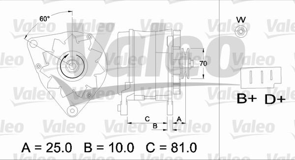 Alternateur VALEO 436180 (X1)