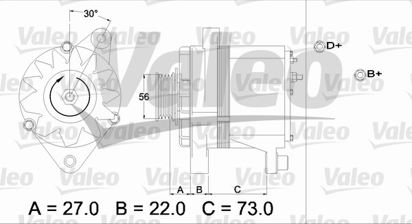 Alternateur VALEO 436242 (X1)