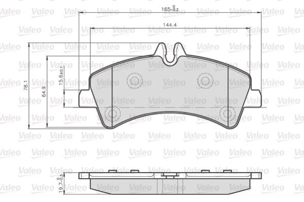 Kit de plaquettes de frein, frein à disque VALEO 873190 (Jeu de 4)