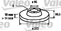 Disque de frein arriere VALEO 187045 (Jeu de 2)