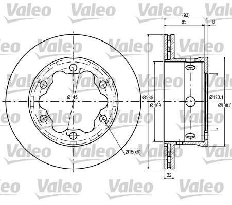 Disque de frein arriere VALEO 187081 (Jeu de 2)