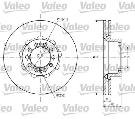 Disque de frein avant VALEO 187090 (X1)