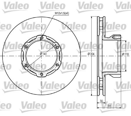 Disque de frein VALEO 187105 (X1)