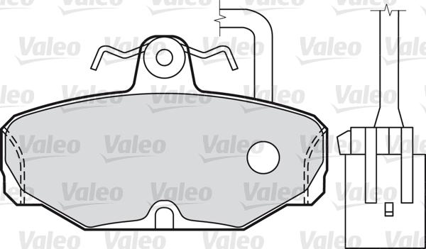 Kit de plaquettes de frein, frein à disque VALEO 598312 (Jeu de 4)