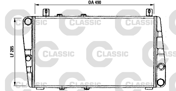 Radiateur de refroidissement VALEO 230375 (X1)
