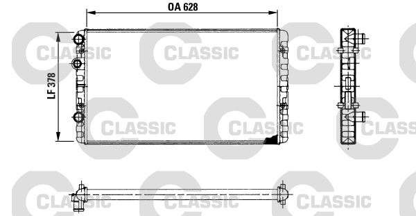 Radiateur de refroidissement VALEO 230955 (X1)