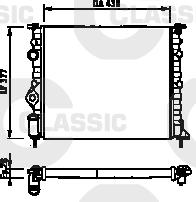 Radiateur de refroidissement VALEO 231378 (X1)