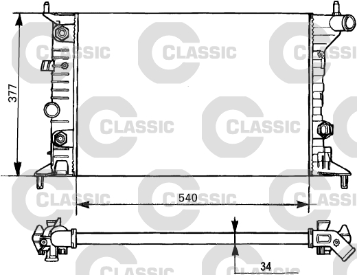 Radiateur de refroidissement VALEO 231393 (X1)