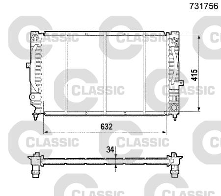 Radiateur de refroidissement VALEO 231756 (X1)