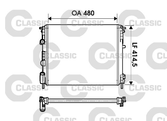 Radiateur de refroidissement VALEO 232621 (X1)