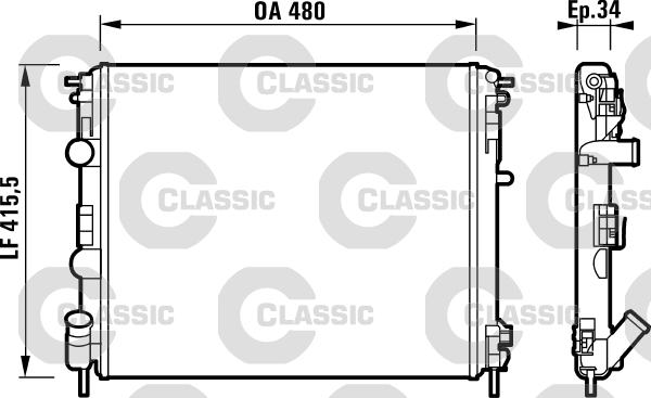 Radiateur de refroidissement VALEO 232721 (X1)