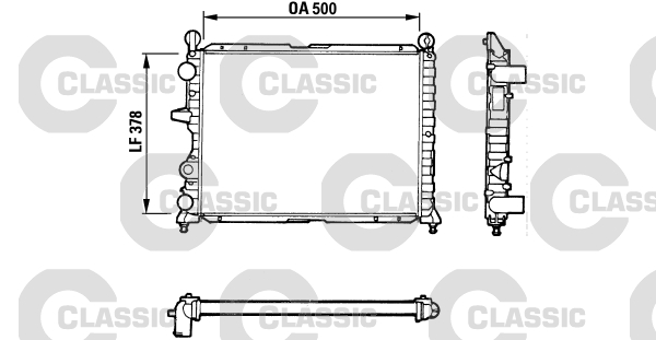 Radiateur de refroidissement VALEO 311071 (X1)