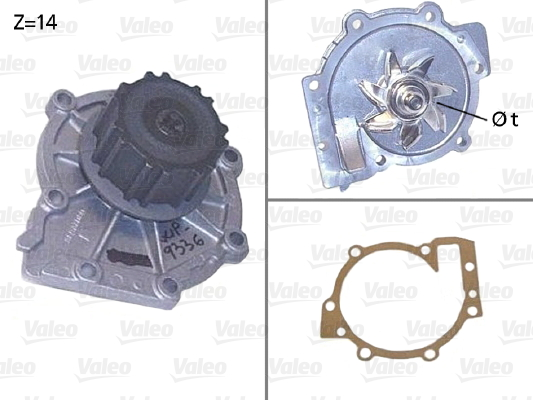 Pompe a eau VALEO 506853 (X1)
