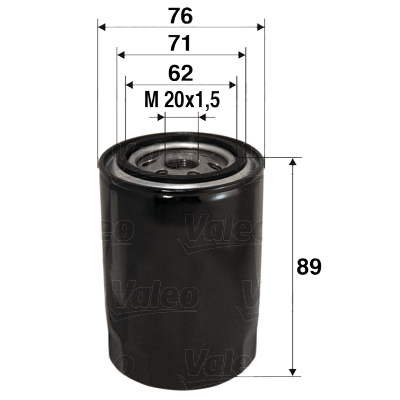 Filtre a huile VALEO 586000 (X1)