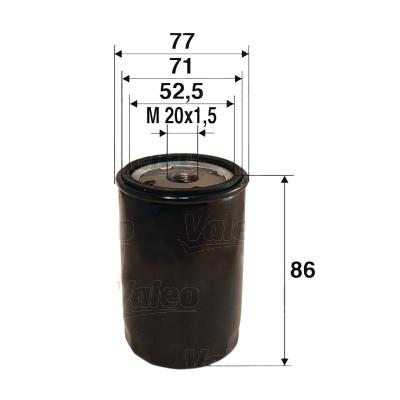 Filtre a huile VALEO 586002 (X1)