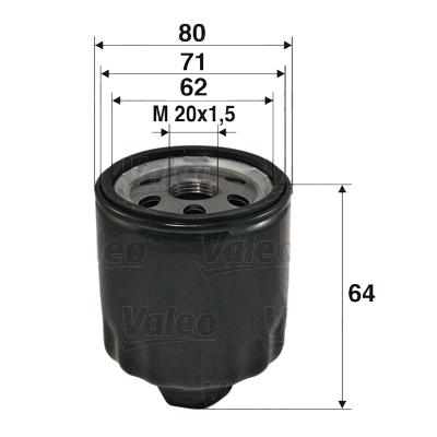 Filtre a huile VALEO 586003 (X1)