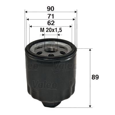 Filtre a huile VALEO 586004 (X1)
