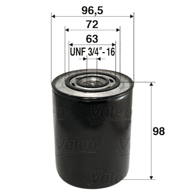 Filtre a huile VALEO 586007 (X1)