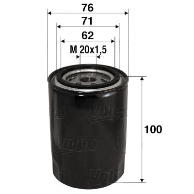 Filtre a huile VALEO 586012 (X1)