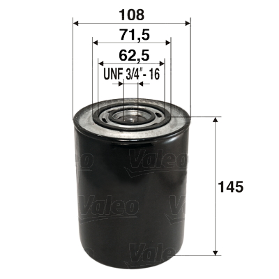 Filtre a huile VALEO 586014 (X1)