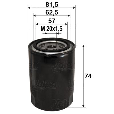 Filtre a huile VALEO 586017 (X1)