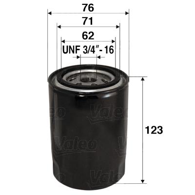 Filtre a huile VALEO 586038 (X1)