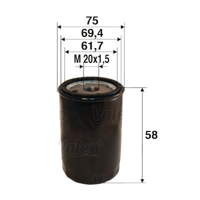 Filtre a huile VALEO 586050 (X1)