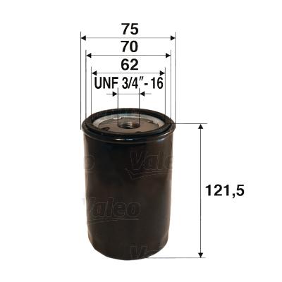 Filtre a huile VALEO 586052 (X1)